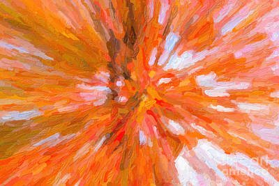 Impasto Oil Photograph - Autumn Leaves Impasto IIi by Clarence Holmes