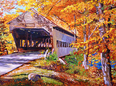 Autumn Love Story Original by David Lloyd Glover