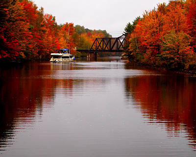 Autumn On The Trent-severn Waterway Original by Catherine Booth-Smith