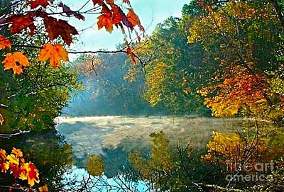 White River Scene Photograph - Autumn On The White River I by Julie Dant