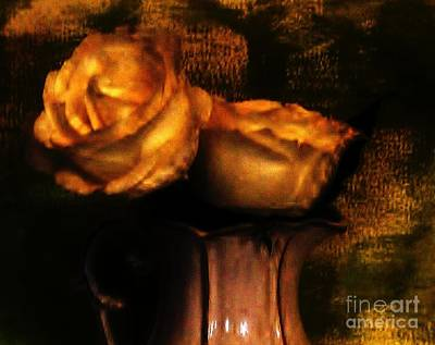Antique Look Photograph - Autumn Roses by Marsha Heiken