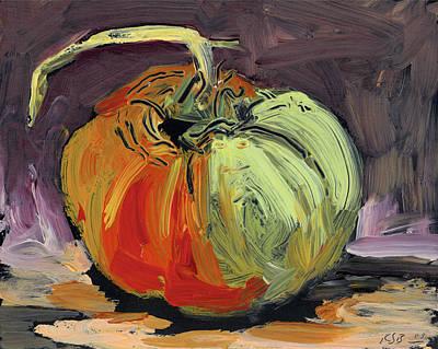 Tomato Drawing - Autumn Tomato by Scott Bennett