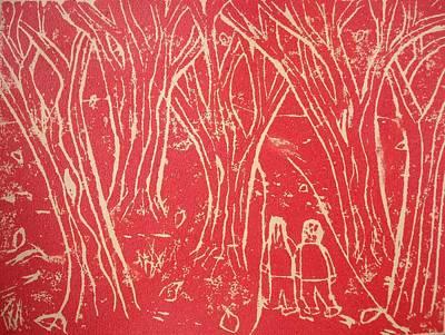 Autumn Walk Print by Ward Smith
