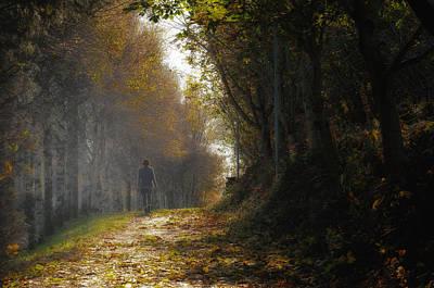 Autumn Way Print by Jaroslaw Oleksyk