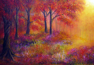 Kinkade Painting - Autumn's Song by Ann Marie Bone