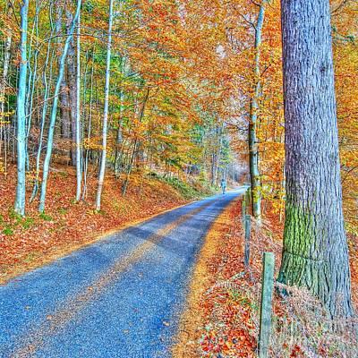Autumns Way Bleu  Print by John Kelly