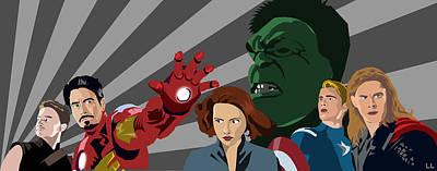 Avengers Assemble Print by Lisa Leeman