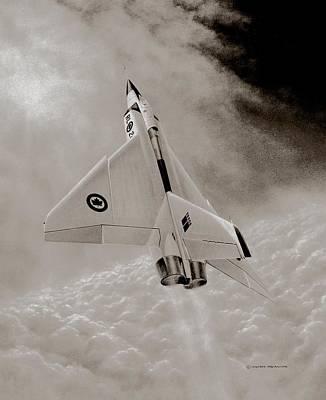 Nato Painting - Avro Arow Ghost Flight by Michael Swanson