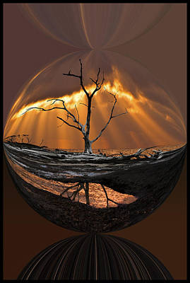 Abstract Digital Art Photograph - Awakening by Debra and Dave Vanderlaan
