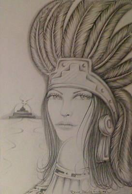 Aztec Princess Print by Rene Nava - aztec-princess-rene-nava