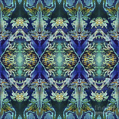 Azuraz Candle Tiled Print by Sue Duda