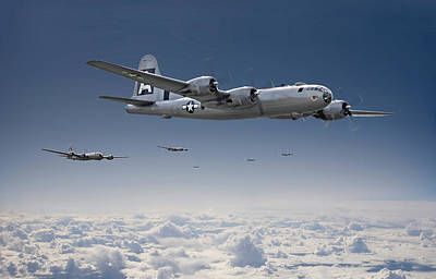 Cloudscape Digital Art - B29 - Superfortress by Pat Speirs