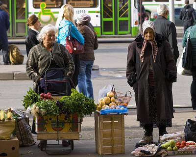 Babushka Photograph - Babushkas. Moscow Russia by Juli Scalzi