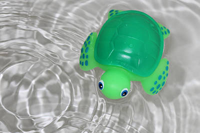 Baby Turtle Photograph - Baby Bath Toy In Water Ripples by Tracie Kaska