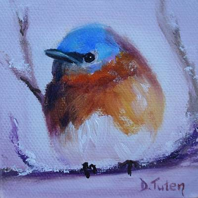 Animal Painting - Baby Blue by Donna Tuten