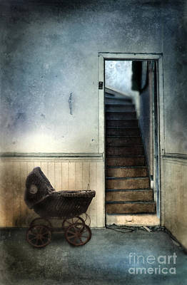 Baby Buggy In Abandoned House Print by Jill Battaglia