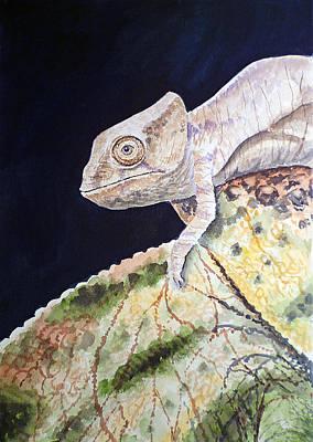 Chameleon Painting - Baby Chameleon by Irina Sztukowski