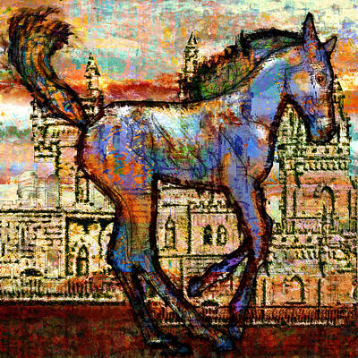 Baby Horse Of The Apocalypse Print by Mary Ogle