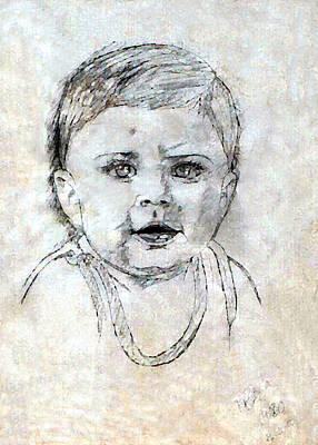 Pablo Mixed Media - Baby Portrait  by Madalena Lobao-Tello