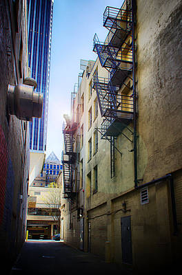 Back Alley Work Print by James Heckt