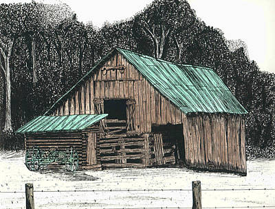 Back By The Barn Print by Mike OBrien