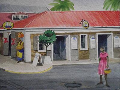 Back Street- Charlotte Amalie Print by Robert Rohrich