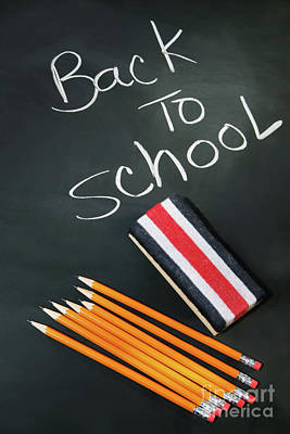Back To School Acessories Print by Sandra Cunningham