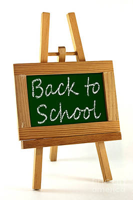 Back To School Sign Print by Blink Images