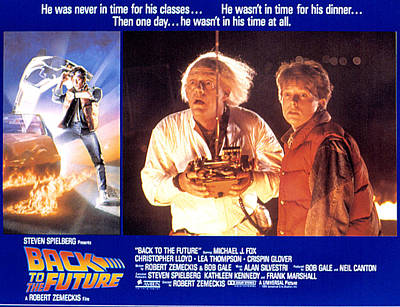 Back To The Future, Christopher Lloyd Print by Everett