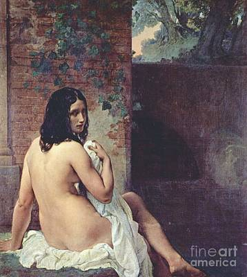 Back View Of A Bather Print by Pg Reproductions