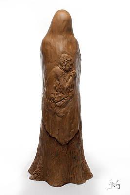 Back View Of Saint Rose Philippine Duchesne Sculpture Print by Adam Long