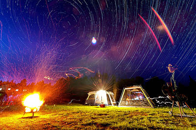 Back Yard Camping Original by Aaron Priest