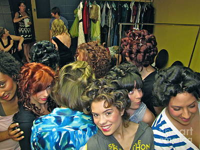 People Photograph - Backstage At The Fashion Show by Sean Griffin