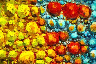 Bacteria 2 Print by Angelina Vick
