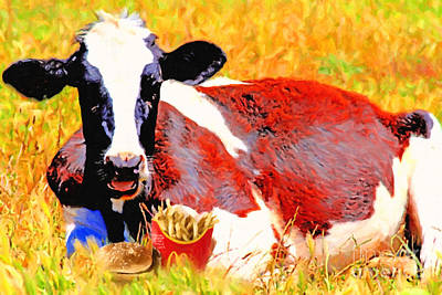 Cannibalism Photograph - Bad Cow . 7d1279 by Wingsdomain Art and Photography