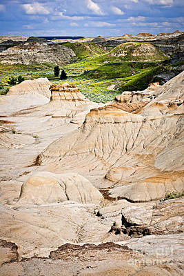Beautiful Vistas Photograph - Badlands In Alberta by Elena Elisseeva