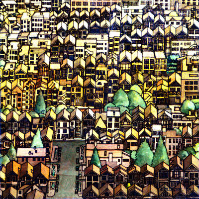Arial View Painting - Baghdad By The Bay by Andre Salvador