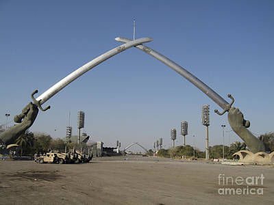 Baghdad, Iraq - Hands Of Victory Print by Terry Moore