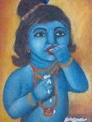 Shri Krishna Painting - Bal Gopal by Richa Anand