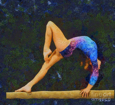 Balance Beam Print by Elizabeth Coats