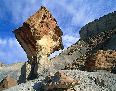 Demoiselles Photograph - Balancing Rock Caused By Water Erosion by G. Brad Lewis