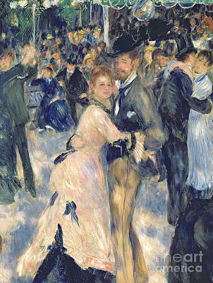 Ball At The Moulin De La Galette Print by Pierre Auguste Renoir