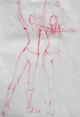 Ballerina 8040 Print by Elizabeth Parashis