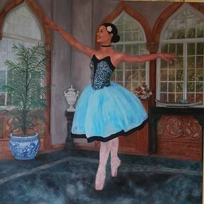 Ballerina On Toe  Original by Phyllis Barrett