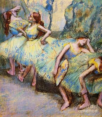 Ballet Painting - Ballet Dancers In The Wings by Pg Reproductions