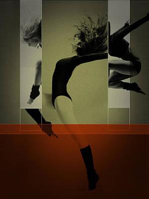 Glamour Digital Art - Ballet Dancing by Naxart Studio