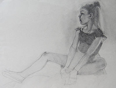 Dancers Drawing - Ballet Shoes  Wip by Jani Freimann