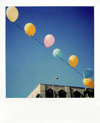 In A Row Photograph - Balloons by Nicole Apatoff