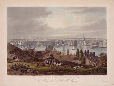 Baltimore Federal Hill Print by Charles Shoup