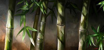 Bamboo Stalks Print by Steve Goad